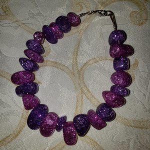 Handmade Brand New Purple Cracked Quartz Bracelet!